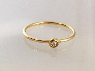 天然ローズカット・ダイアモンド K18+K24ゴールドリング◇Rose Cut Diamond K18+K24 Ringの画像