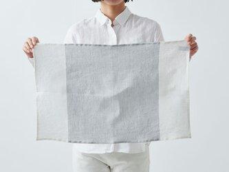 【再入荷】シャンブレーリネン キッチンクロス(グレー×ホワイト)の画像