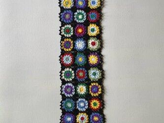 かぎ針編み(モチーフ編み)のテーブルセンター(ドイリー)の画像