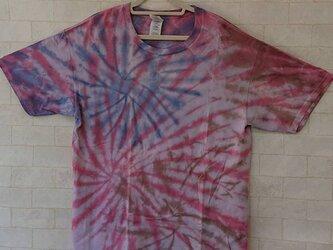 タイダイ染め 夏にピッタリ!花火のような模様のTシャツ (Lサイズ)の画像