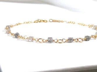 シルバーグレーダイヤモンドのブレスレット (K14gf)の画像