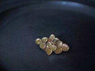 紫陽花ブローチⅠ brassの画像