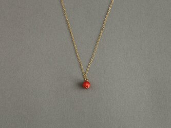 CN-001 tsubu necklace /coralの画像