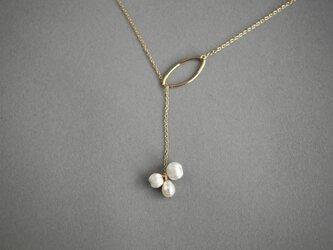 CN-008 lariat necklace mitsubuの画像