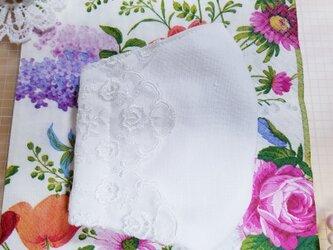 清涼マスク⭐清楚な刺繍レース⭐肌おもいのダブルガーゼ⭐夏でもフェミニン⭐ 日本製⭐の画像