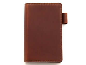 【ブラウン】ポケットサイズのシステム手帳の画像