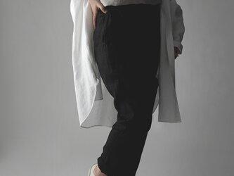 【wafu premium linen】リネン パンツ wafu史上最高のリネン 脚長効果/ランプブラック b010f-lbk2の画像