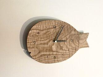 受注制作 魚の壁掛け時計 L クリ 栗の画像