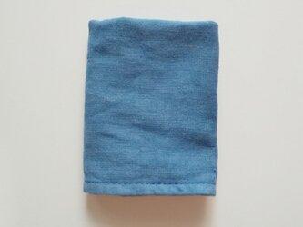 再販 草木染めガーゼタオルハンカチ インド藍の画像