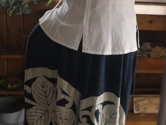 古布家紋パンツスカートの画像
