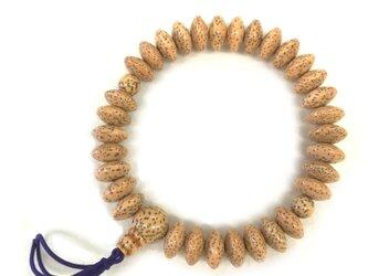 星月菩提樹 そろばん玉 共仕立 腕輪 ブレスレット 数珠 天然石 京都  UDA123の画像