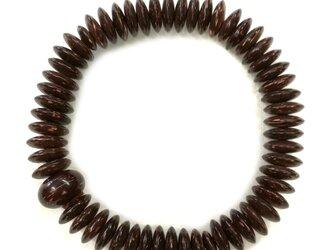 椰子 そろばん玉 共仕立 腕輪 ブレスレット 数珠 天然石 京都  UDA125の画像