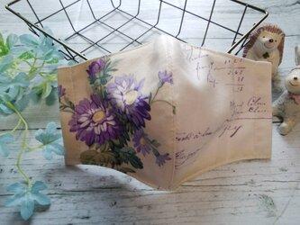 送料無料✴お花がとても素敵な大人可愛いいマスクです✴の画像
