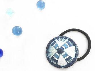 革の藍絞り染 hear accessary クロス(M)の画像