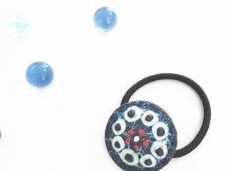 革の藍絞り染 hear accessary MAME(S)の画像