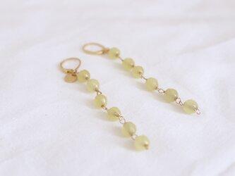 tsuzuri earrings - lemon yellowの画像