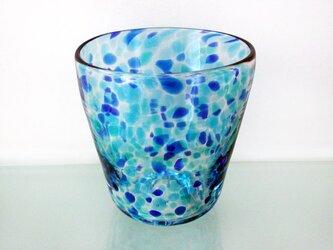 彩グラス(蒼い海02)の画像