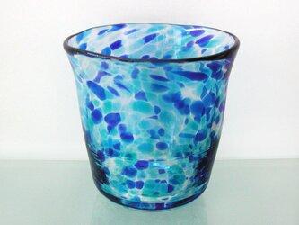 彩グラス(蒼い海03)の画像