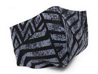 ハワイアン ファッション マスク(3D扇型) カヒコ柄 ブラック Lサイズ[mfm3Q2-086L]の画像