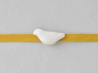 白磁の帯留・白鳩の画像