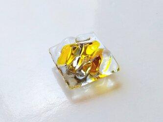 かき氷みたいなガラス帯留 レモンの画像