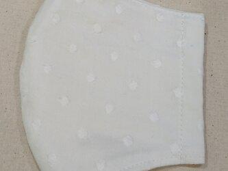 マスク 綿レース大人用Mサイズ 水玉の画像