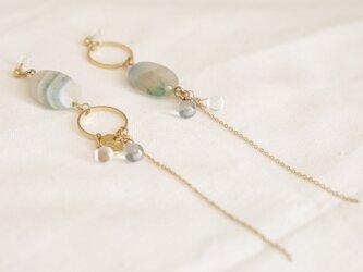 crystal and hoop earrings - type dの画像