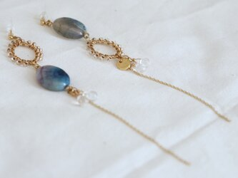 crystal and hoop earrings - type eの画像