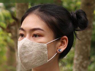 【 夏用 S サイズ 】リネン & コットン 布マスク 呼吸がしやすい 立体マスク 洗える マスク Wガーゼ 薄手 子供用の画像