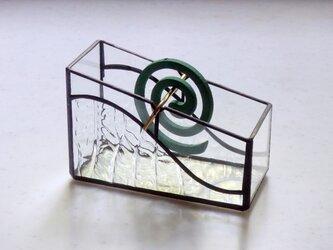 ステンドグラス  ミニサイズ蚊取り線香用ホルダー 2の画像