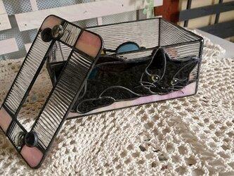 黒猫さんのティッシュボックス2:コンパクトサイズの画像