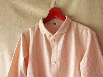 チョコンアシンメトリーカラーシャツ(桜杢) unisex Sの画像