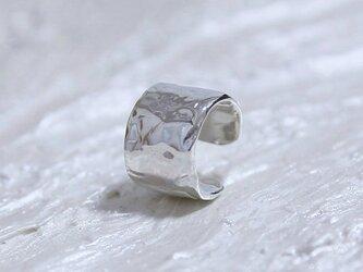 Water surface ear cuffテクスチャーイヤーカフ silver925の画像