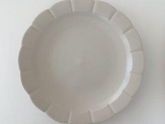 白花プレート(9寸)の画像