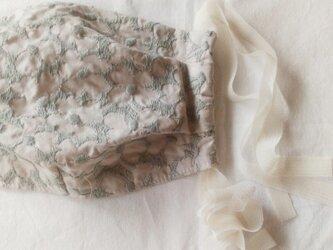 c&s marieflower ピンクベージュ×ミントグレー 大人用の画像