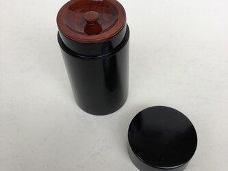 黒 5寸 茶筒の画像