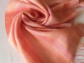 大人可愛い−1 手織りシルクストール 茜色 ST24の画像