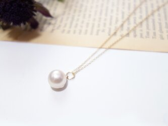 Akoya Pearl 9.5mm Pendant Necklace の画像