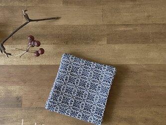 Coaster[綿入り手織りコースター] ネイビーの画像