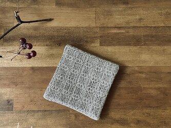 Coaster[綿入り手織りコースター] グレーの画像