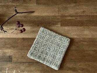 Coaster[綿入り手織りコースター] グレー×イエローの画像