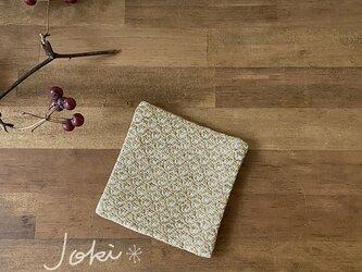 Coaster[綿入り手織りコースター] 小紋イエローの画像