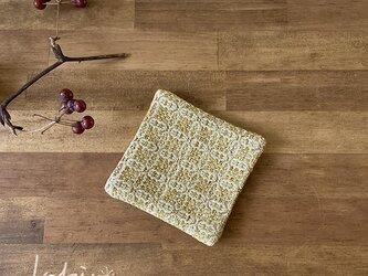 Coaster[綿入り手織りコースター] イエローの画像