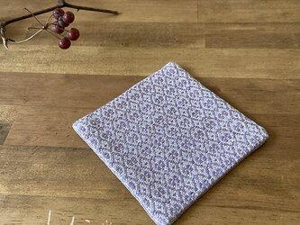 Coaster[リネン手織りコースター] 藤色の画像