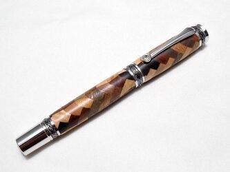 (試作品)【寄木】手作り木製万年筆 #6の画像