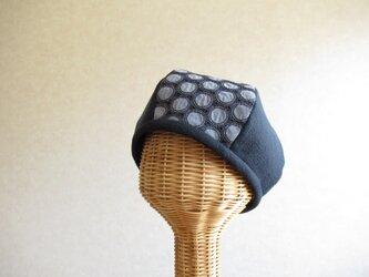 6枚はぎのベレー帽 ネイビー、レース・サークル 1の画像