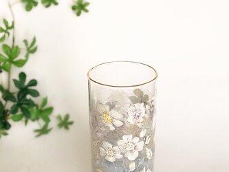 ゴブレット「小さなお花の物語」エナメル絵付けの画像