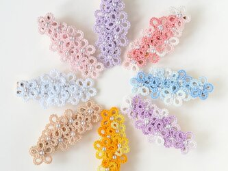 花束ヘアクリップ ヘアアクセサリー 髪飾り レース編みの画像