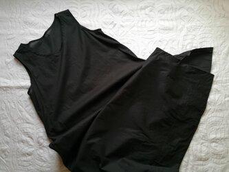 ◆インナードレス  / 綿ローン 黒の画像