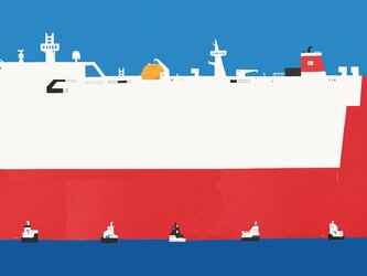 大きい船と小さい船の画像